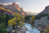 USA  Utah  Zion National Park  Virgin River and the Watchman