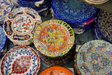 Asia  Turkey  Istanbul Grand Bazaar Hand Painted Ceramic Plates