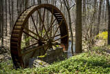 USA  New Jersey  Hunterdon County Old Waterwheel by Rockaway Creek