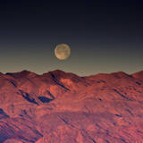 Moonset over Cottonwood Mountains  Death Valley  California  USA