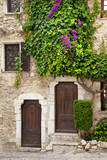 Front Doors to Homes in Ancient St Paul De-Vence  Provence  France