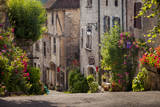 Early Morning Street View  Saint-Cirq-Lapopie  Midi-Pyrenees  France