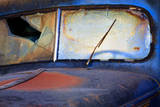 North America  USA  Georgia  Windshield of an Old Rusty Truck