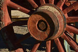 Mule Train Wheel  Harmony Borax Works  Death Valley  California