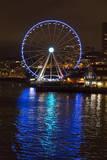 USA  Washington  Seattle Seattle Great Wheel at Night on Pier 67