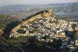 Spain  Montefrio  Andalusia  Aerial Town and Church