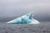 Norway  Spitsbergen Iceberg Floating Along the Coast in Summer