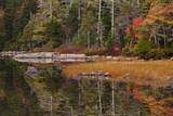 USA  Maine  Fall Reflections at Eagle Lake in Acadia National Park