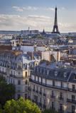 Sunset over Paris  Eiffel Tower Beyond  ILe-De-France  France