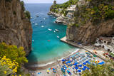 Beach in the Rocky Coastline of Amalfi Near Praiano  Campania  Italy