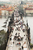 Prague  Czech Republic  View of Bridge and River