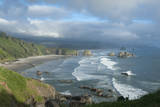 The Oregon Coast and Cannon Beach from Ecola State Park  Oregon