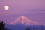 Mount Hood and Full Moon