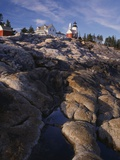 Pemaquid Lighthouse Above Rocky Coastline