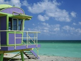 Lifeguard Tower Along South Beach