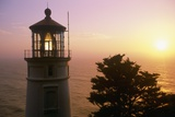 Sunset at Heceta Head Lighthouse in Oregon
