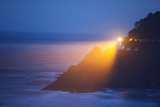 Heceta Head Lighthouse Shining in Morning Fog