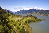 View Point Looking West Down Columbia River Gorge from Ruthton Park Hood River  Oregon