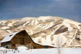 Steamboat Springs Ski Area and Barn  Colorado
