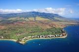 West Maui Mountains Behind Kaanapali Beach