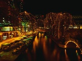 Christmas Lights Along the San Antonio Riverwalk