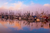 Morning Fog and Fishing Boats  Newport Harber  Oregon Coast Pacific Northwest