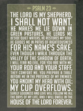 Psalm 23 Prayer Art Print Poster