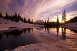 Sunrise at Tipsoo Lakes and Mount Rainier
