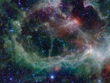 Heart Nebula in Cassiopeia Constellation Space Photo Poster Print