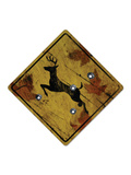 Deer Crossing Hunting Sign