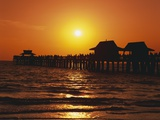 Sun Setting Above Naples Pier