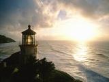 Lighthouse Overlooking Sunset
