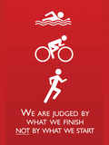 Triathlon Motivational Quote Sports Poster Print