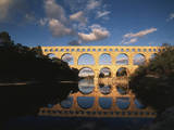 France  Gard  Languedoc  Pont Du Gard Bridge and River Gardon