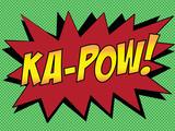 Ka-Pow! Comic Pop-Art Art Print Poster