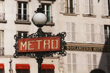 France  Paris  Street Light with Sign