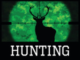 Hunting Green Buck Poster Print