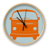 Orange VW Bus Horloge par NaxArt