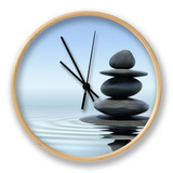 Zen Stones In Water Horloge par F9photos