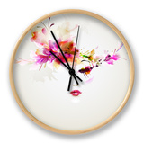 Beautiful Fashion Women With Abstract Design Elements Horloge par Artant