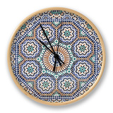 Oriental Mosaic In Morocco Horloge par P.lange