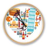 Italy Love - Heart Horloge par Marish