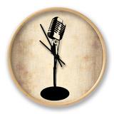 Vintage Microphone Horloge par NaxArt