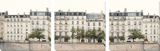 Apartments in Paris along the Seine Tableau multi toiles par Irene Suchocki