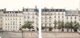 Apartments in Paris along the Seine Tableau multi toiles par Irene Suchocki