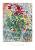 Grand Bouquet de Renoncules, 1968 Reproduction d'art par Marc Chagall