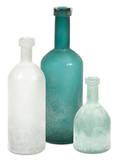 Russell Handblown Glass Bottle Trio