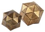 Euclid Gold Deco Ball Pair*