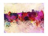 Istanbul Skyline in Watercolor Background Reproduction d'art par Paulrommer