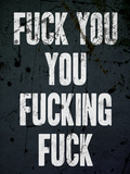 F*ck You You F*cking F*ck Poster